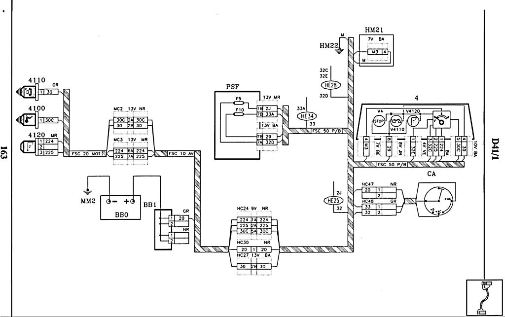 problème sonde niveau d'huile  Schema_405_phaseI_voyants_huile_0002